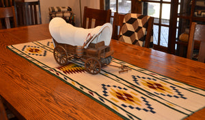 "Navajo Womans Shawl : Kathy Marianito : Churro 1632 : 66"" x 21"" - Getzwiller's Nizhoni Ranch Gallery"