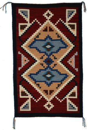 "Innovative Design : Native American Rug : Frances Begay : Churro 1636 : 24"" x 39"""