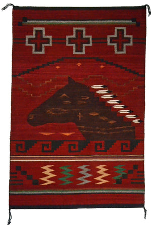 SOLD - Pictorial Navajo Weaving : GH : Churro 1661
