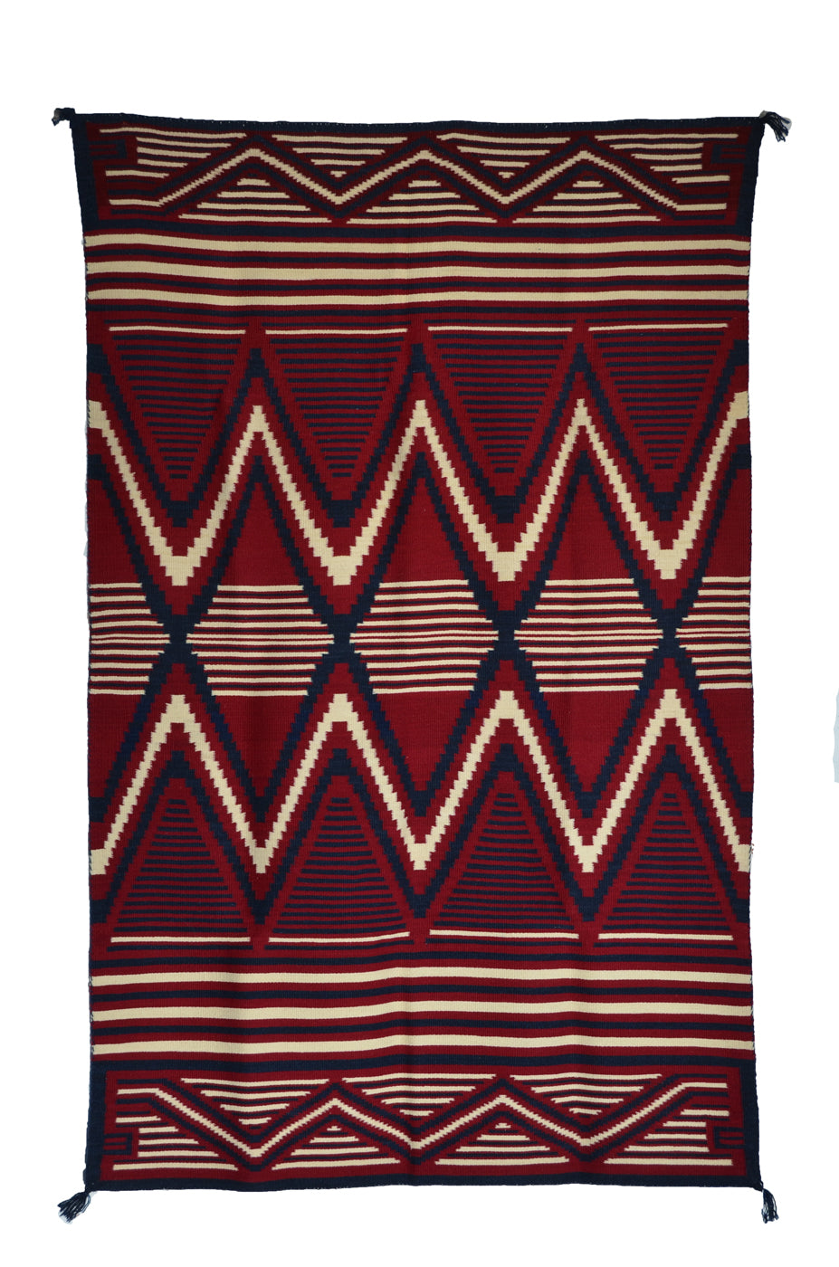 Serape woven with natural dyes-churro wool