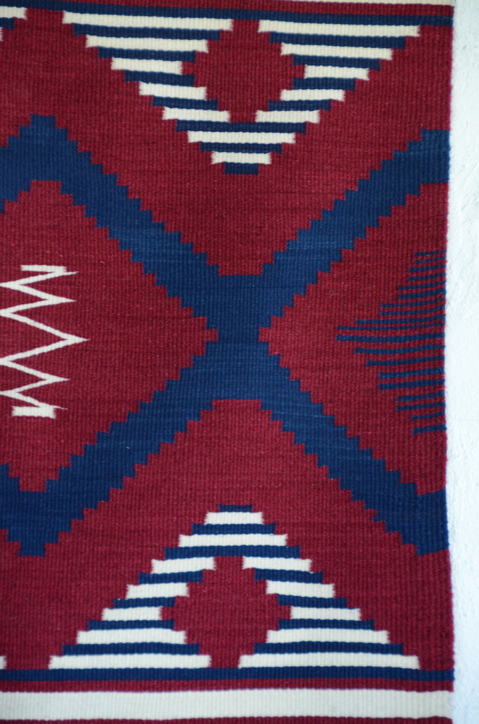 Poncho : Navajo Weaving : Julia Upshaw : Churro 1529 - Getzwiller's Nizhoni Ranch Gallery
