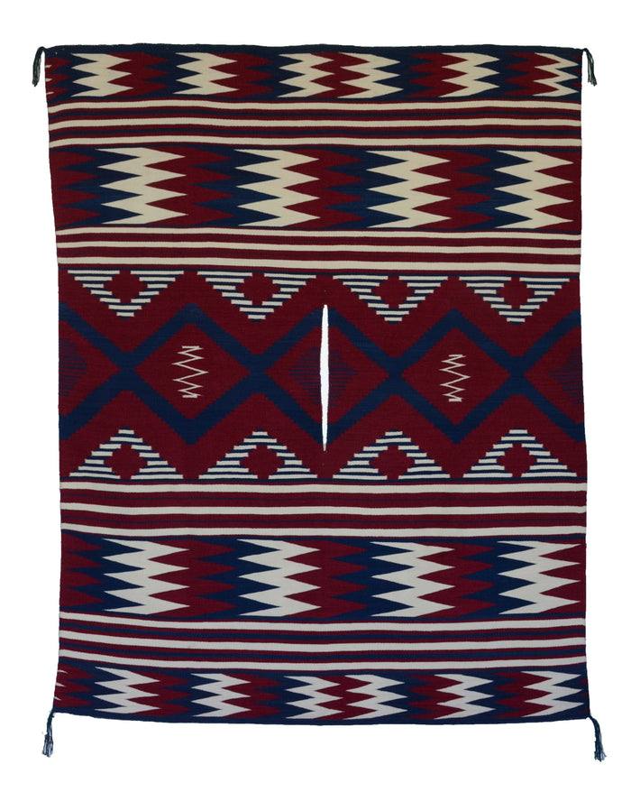 "Poncho : Navajo Weaving : Julia Upshaw : Churro 1529 : 78"" x 57"""