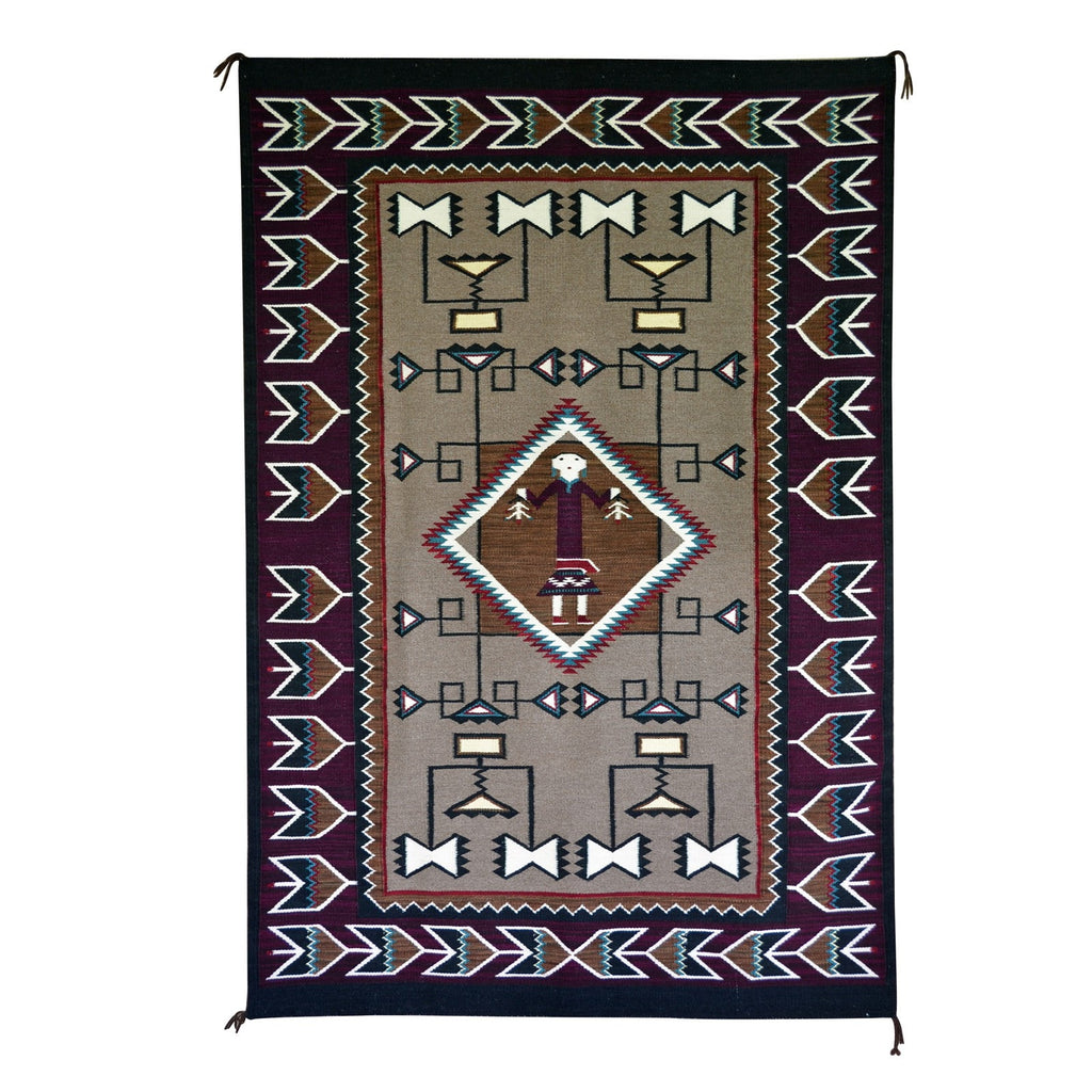 Teec Nos Pos Pictorial Navajo Weaving : Emily Malone : Churro 738 : 4′ x 6′ - Getzwiller's Nizhoni Ranch Gallery