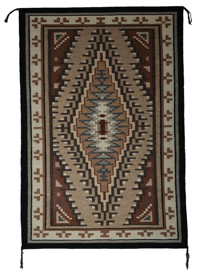 "SOLD Two Grey Hills Navajo Rug : Irene Bia : 3413 : 32"" x 48"""