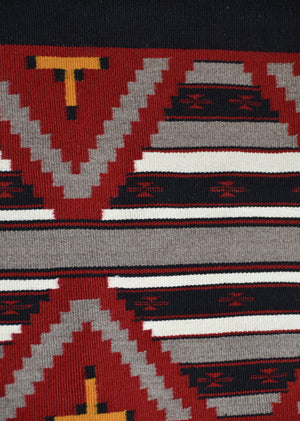 "Navajo Mini-Serape : American Indian Rug : Ruby Watchman : 3399 : 36"" x 23"" - Getzwiller's Nizhoni Ranch Gallery"