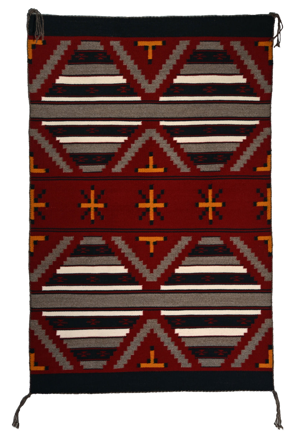 Navajo Mini-Serape : American Indian Rug : Ruby Watchman : 3399