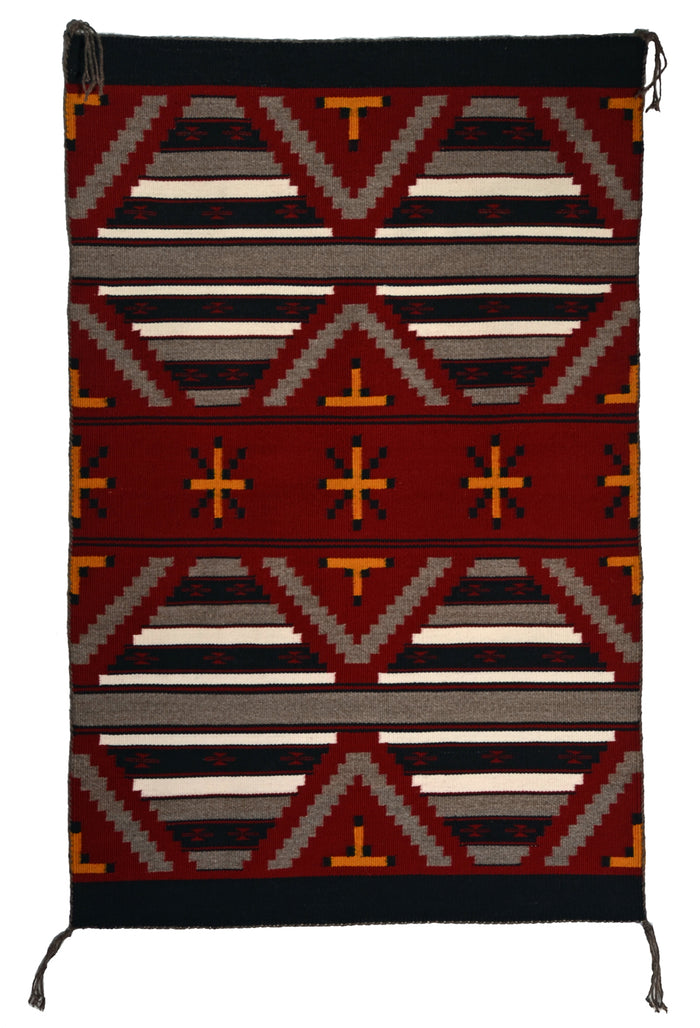 "Navajo Mini-Serape : American Indian Rug : Ruby Watchman : 3399 : 36"" x 23"""