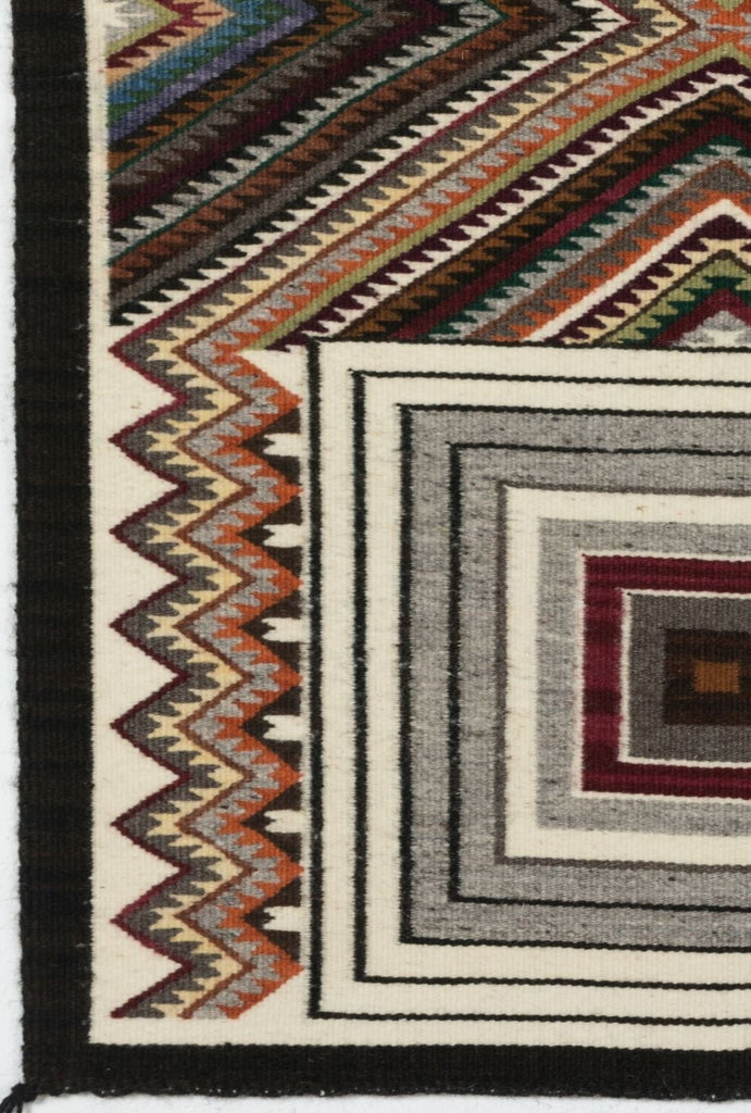 SOLD Red Mesa - Modern Art Navajo Weaving : Cecelia Nez : Churro 1510