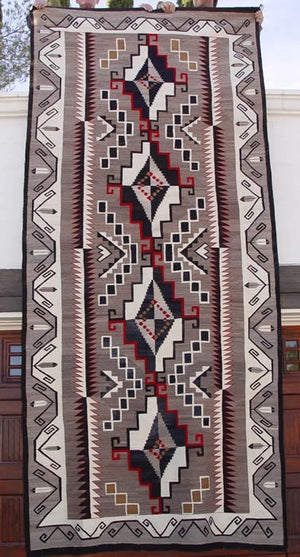 "Crystal Navajo Weaving : Historic : GHT 417 : 66"" x 144"" - Getzwiller's Nizhoni Ranch Gallery"