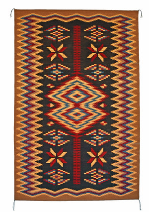 Old Style Crystal Navajo Rug Weaving : Elsie Bia : Churro 1518 : 47″ x 73″ - Getzwiller's Nizhoni Ranch Gallery