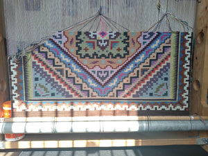Beautiful Burntwater Navajo rug
