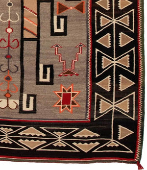 "Teec Nos Pos Navajo Weaving : Antique : GHT 2024 : 78"" x 57"" - Getzwiller's Nizhoni Ranch Gallery"