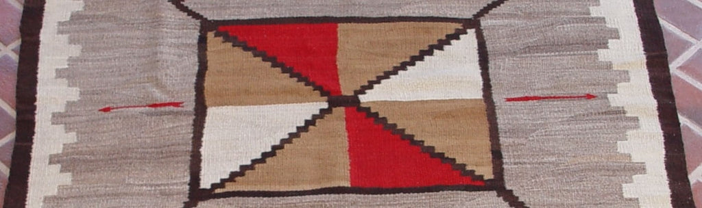 Storm Pattern Navajo Weaving : Historic : GHT 2025