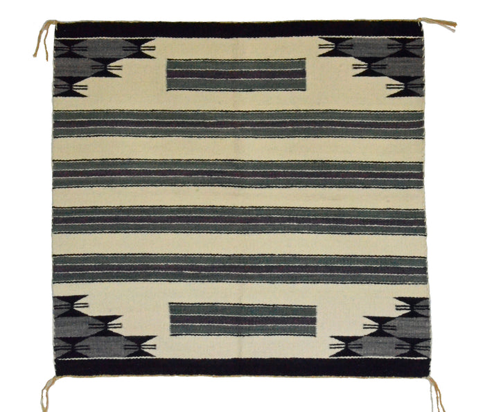 "Navajo Saddle Blanket - Single: Lorena Yazzie  : Nizhoni Ranch Gallery : SG 10 : 31"" x 31"""