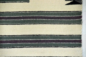 "Navajo Saddle Blanket - Single: Lorena Yazzie  : Nizhoni Ranch Gallery : SG 10 : 31"" x 31"" - Getzwiller's Nizhoni Ranch Gallery"