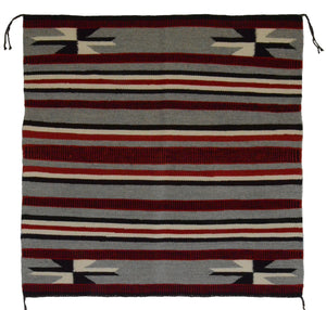 "Navajo Saddle Blanket - Single : Lorena Yazzie : Nizhoni Ranch Gallery : SG 11 : 31"" x 30"" - Getzwiller's Nizhoni Ranch Gallery"