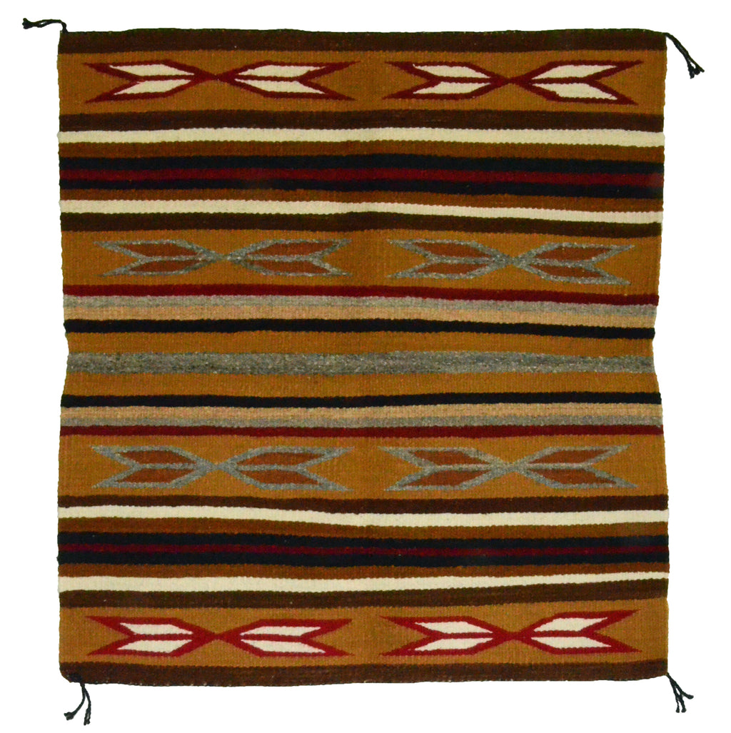 "Navajo Saddle Blanket - Single: Agnes Tso  : Nizhoni Ranch Gallery : SG 12 : 31"" x 33"" - Getzwiller's Nizhoni Ranch Gallery"