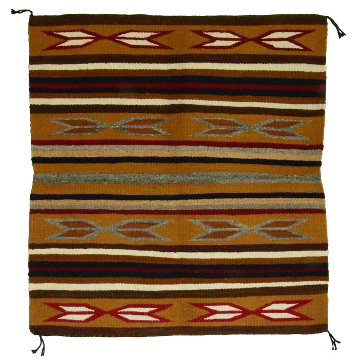 "Navajo Saddle Blanket - Single: Agnes Tso  : Nizhoni Ranch Gallery : SG 12 : 31"" x 33"""