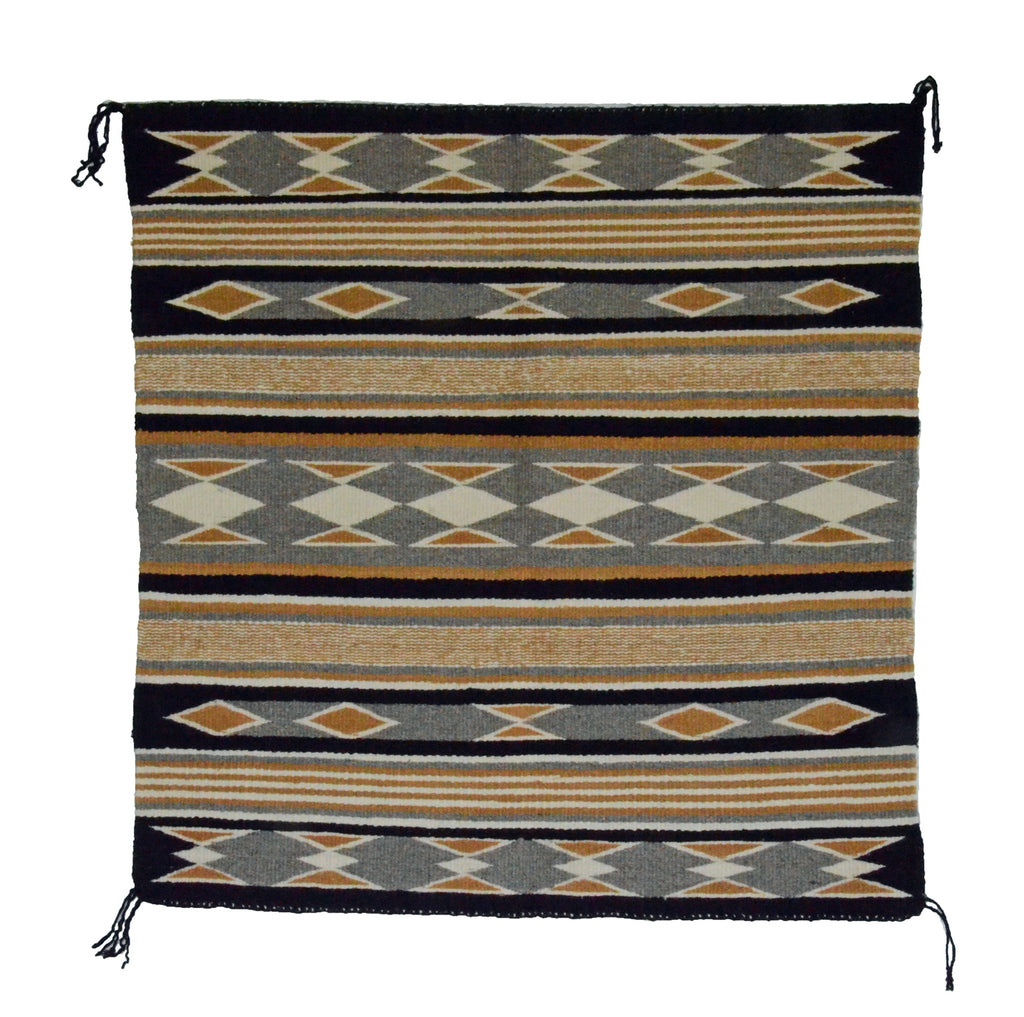"Navajo Saddle Blanket - Single: Jane Phillips  : Nizhoni Ranch Gallery : SG 13 : 29"" x 30"" - Getzwiller's Nizhoni Ranch Gallery"