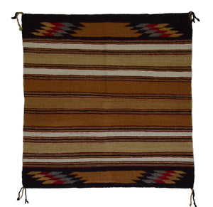 "Navajo Saddle Blanket - Single : Lena Tom : Nizhoni Ranch Gallery : SG 14 : 29"" x 30"" - Getzwiller's Nizhoni Ranch Gallery"