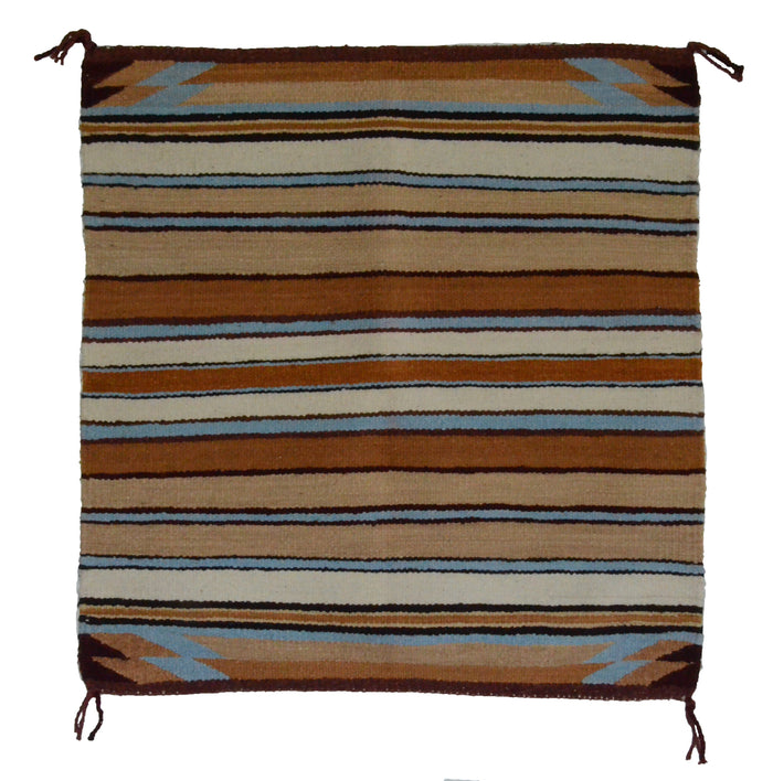 "SOLD Navajo Saddle Blanket - Single: Bessie Joe : Nizhoni Ranch Gallery : SG 15 : 31"" x 31"""