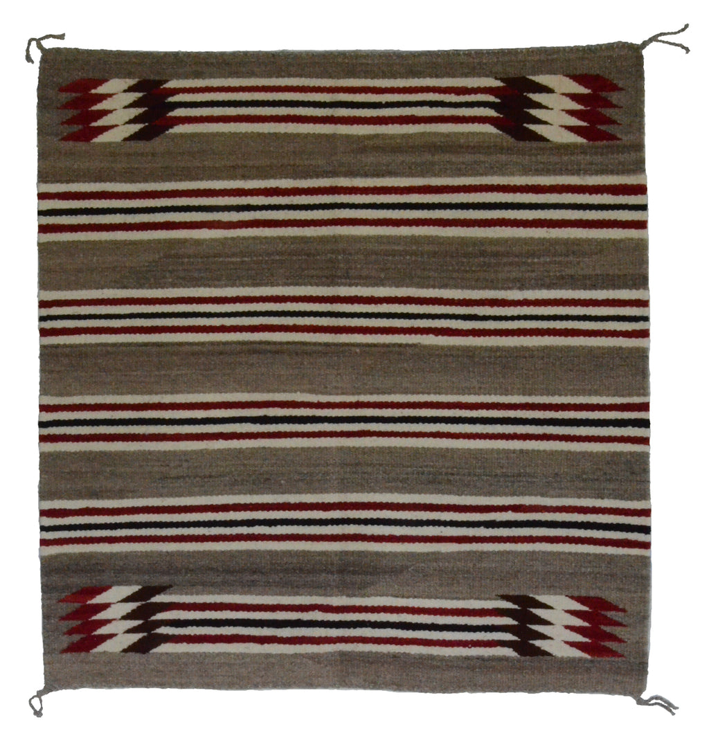 "Navajo Saddle Blanket - Single: Agnes Tso  : Nizhoni Ranch Gallery : SG 16 : 30"" x 32"" - Getzwiller's Nizhoni Ranch Gallery"