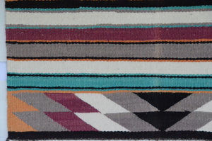 "Navajo Saddle Blanket - Single: Charlott Yazzie  : Nizhoni Ranch Gallery : SG 17 : 32"" x 32"" - Getzwiller's Nizhoni Ranch Gallery"