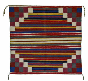 "Navajo Saddle Blanket - Single : Charlott Yazzie : Nizhoni Ranch Gallery : SG 18 : 31"" x 30"" - Getzwiller's Nizhoni Ranch Gallery"