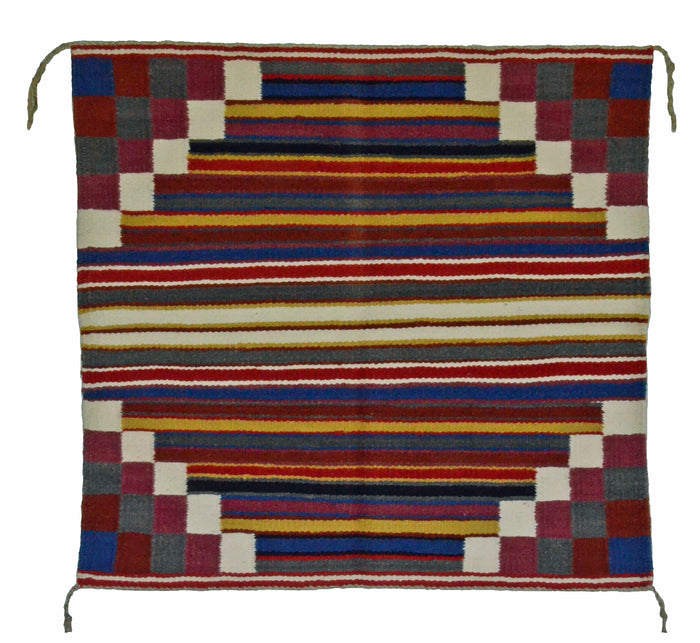 "Navajo Saddle Blanket - Single : Charlott Yazzie : Nizhoni Ranch Gallery : SG 18 : 31"" x 30"""