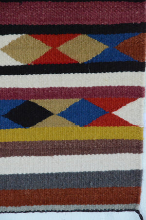 Navajo Saddle Blanket - Single : Charlotte Yazzie : Nizhoni Ranch Gallery : SG 19 - Getzwiller's Nizhoni Ranch Gallery