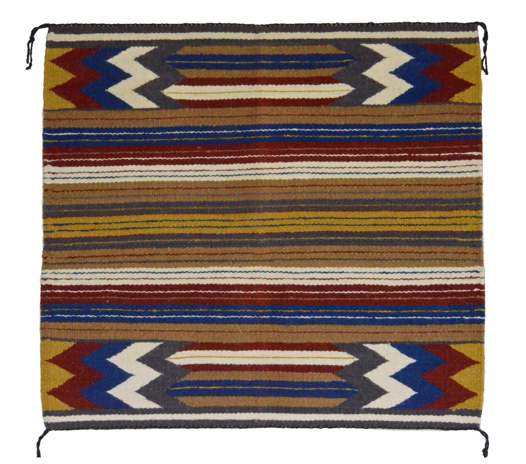 "Navajo Saddle Blanket - Single : Charlotte Yazzie : Nizhoni Ranch Gallery : SG 20 : 31"" x 34"" - Getzwiller's Nizhoni Ranch Gallery"