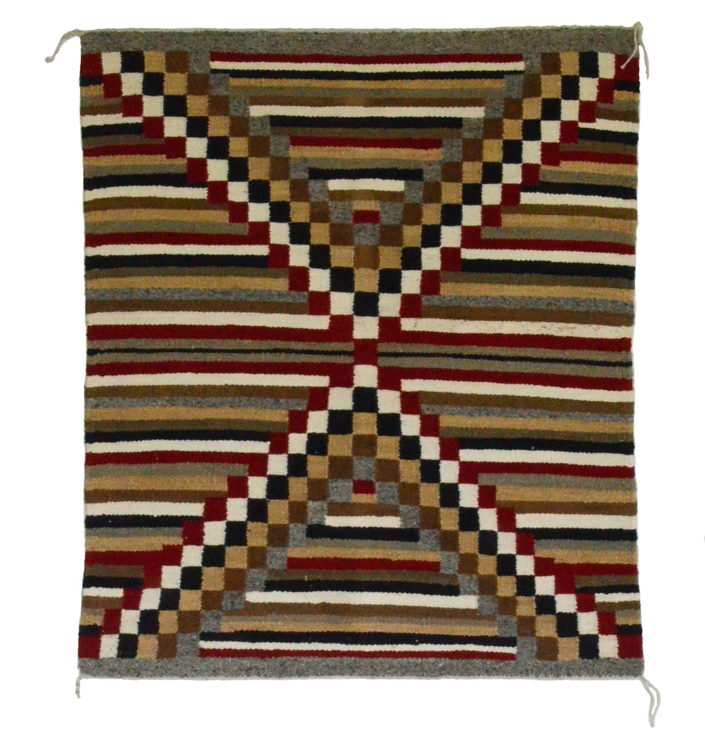 "Navajo Saddle Blanket - Single : Dolly Kaye : Nizhoni Ranch Gallery : SG 22 : 30"" x 36"" - Getzwiller's Nizhoni Ranch Gallery"
