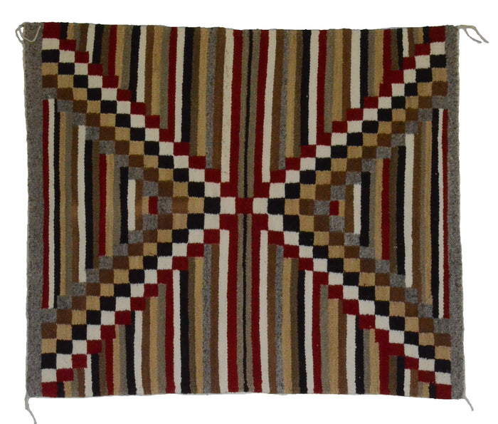 "HOLD Navajo Saddle Blanket - Single : Dolly Kaye : Nizhoni Ranch Gallery : SG 22 : 30"" x 36"""