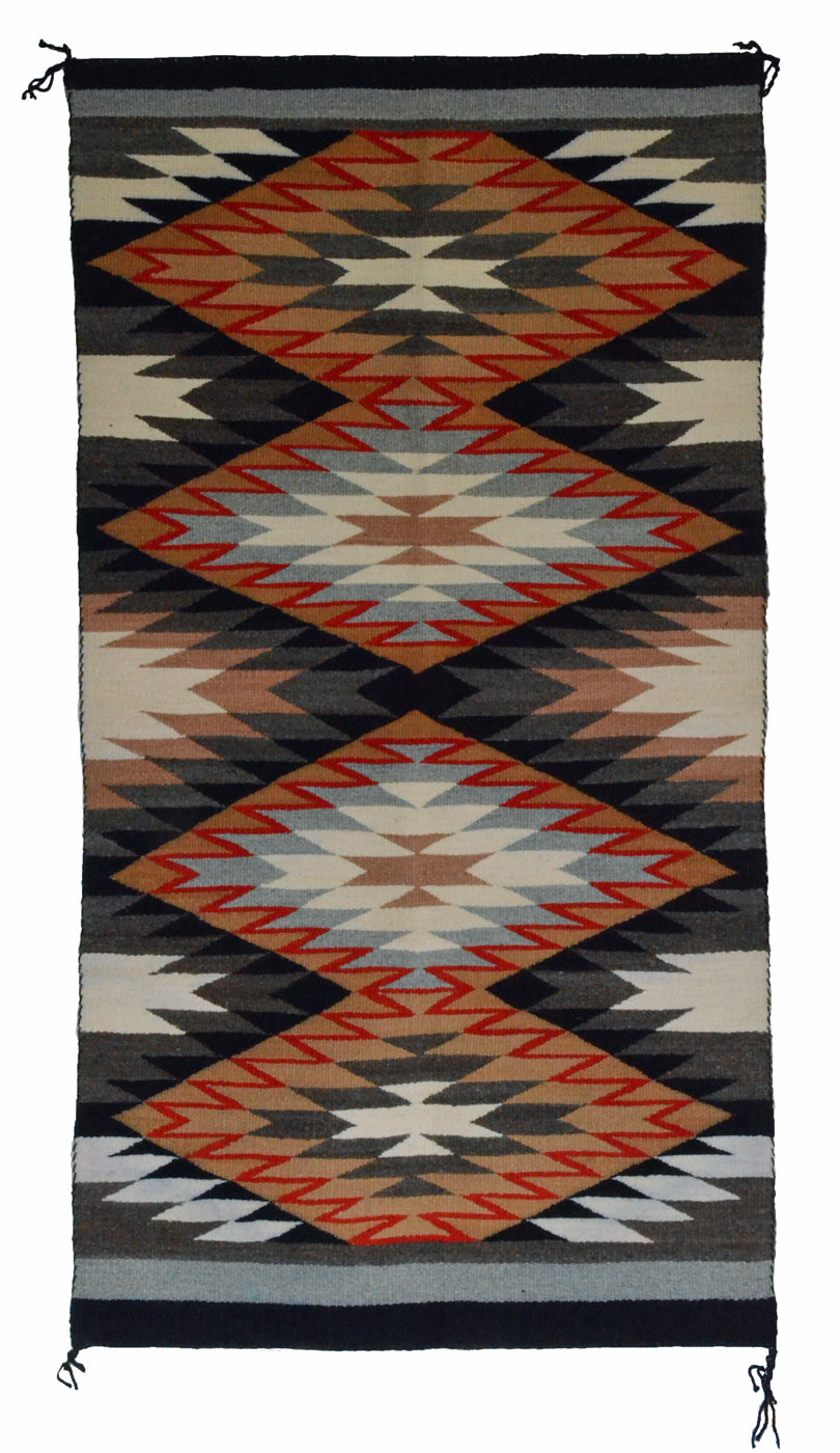 "Navajo Saddle Blanket - Double : Rosemary P Bennie : Nizhoni Ranch Gallery : SG 23 : 31"" x 59"" - Getzwiller's Nizhoni Ranch Gallery"
