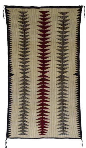 "SOLD Navajo Saddle Blanket - Double : Raised Outline : Nizhoni Ranch Gallery : SG 24 : 34"" x 60"" - Getzwiller's Nizhoni Ranch Gallery"