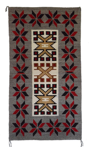 "Navajo Saddle Blanket - Double :  Nizhoni Ranch Gallery : SG 27 : 32"" x 59"" - Getzwiller's Nizhoni Ranch Gallery"