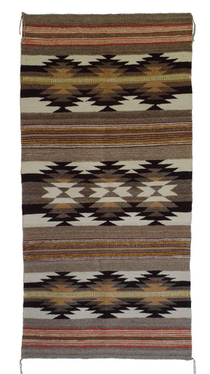 Navajo Saddle Blanket - Double : Mary Tso : Nizhoni Ranch Gallery : SG 28 - Getzwiller's Nizhoni Ranch Gallery