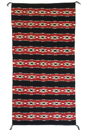 "Navajo Saddle Blanket - Double : Mary Tso : Nizhoni Ranch Gallery : SG 29 : 32"" x 60"" - Getzwiller's Nizhoni Ranch Gallery"