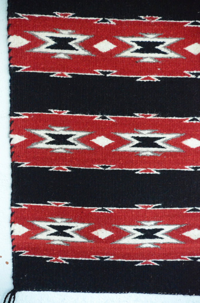 Navajo Saddle Blanket - Double : Mary Tso : Nizhoni Ranch Gallery : SG 29 - Getzwiller's Nizhoni Ranch Gallery