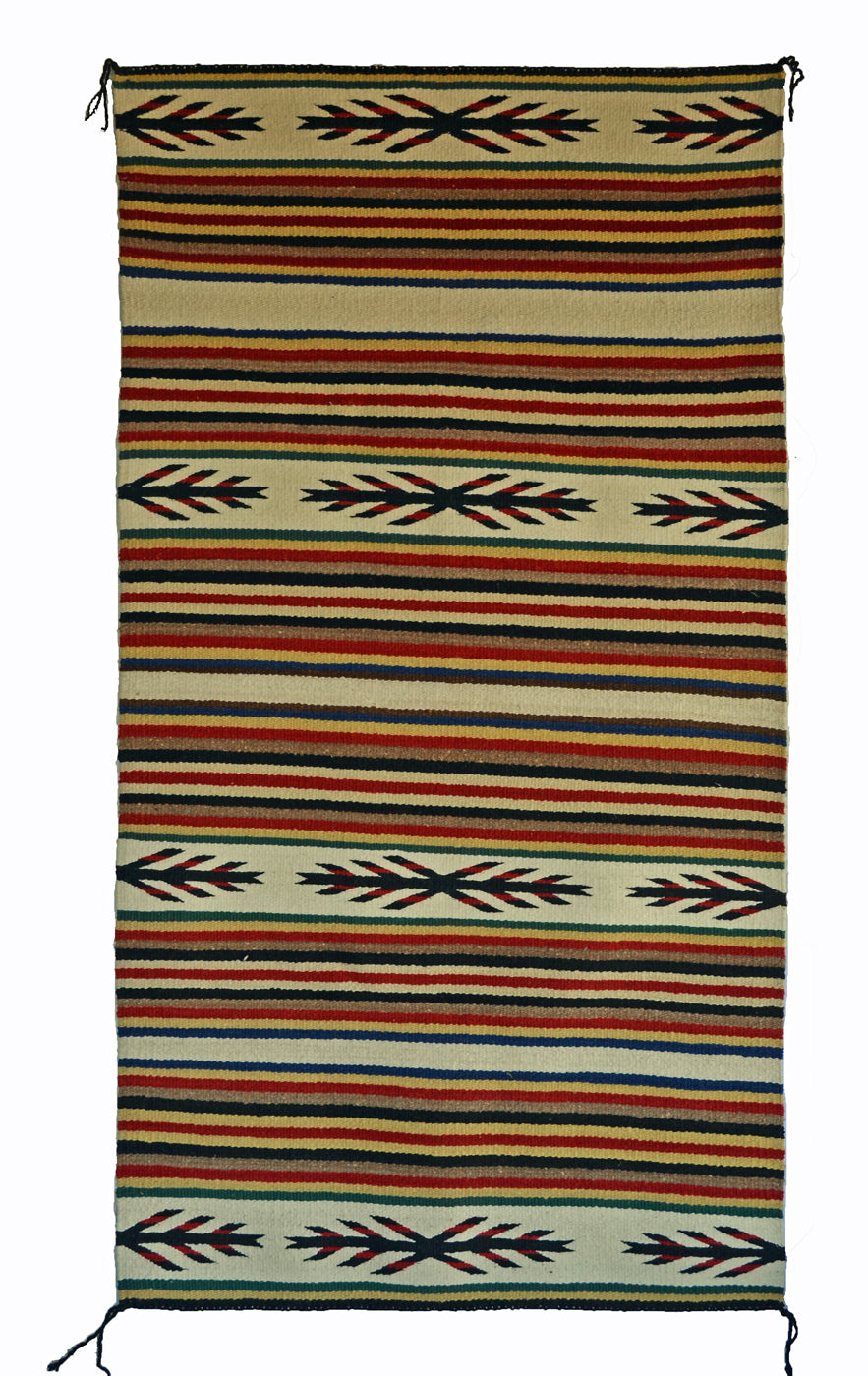 "Navajo Saddle Blanket - Double : Nizhoni Ranch Gallery : SG 37 : 31"" x 59"" - Getzwiller's Nizhoni Ranch Gallery"