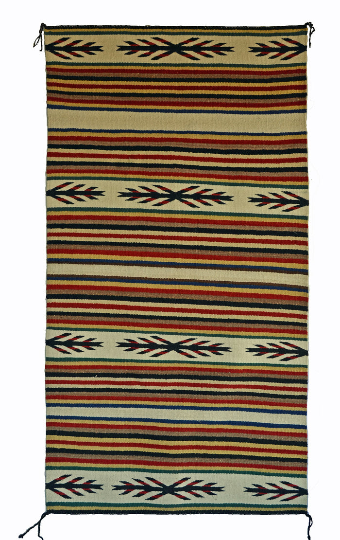 "SOLD Navajo Saddle Blanket - Double : Nizhoni Ranch Gallery : SG 37 : 31"" x 59"""