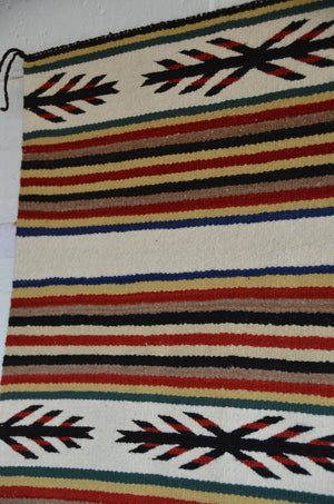 "SOLD Navajo Saddle Blanket - Double : Nizhoni Ranch Gallery : SG 37 : 31"" x 59"" - Getzwiller's Nizhoni Ranch Gallery"