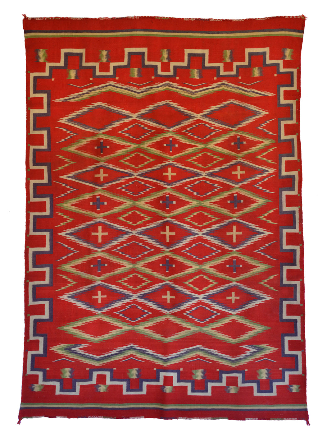 Germantown Navajo Rug : Historic : PC 285 : 54″ x 78″ - Getzwiller's Nizhoni Ranch Gallery