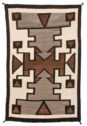 "merican Indian Crystal Pictorial Rug Navajo Weaving : Historic : GHT 2233 : 49"" x 77"" - Getzwiller's Nizhoni Ranch Gallery"