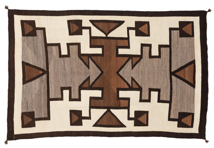"American Indian Crystal Pictorial Rug Navajo Weaving : Historic : GHT 2233 : 49"" x 77"""