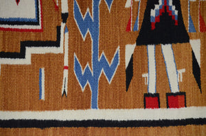 Antique Navajo Weaving: Yei Pictorial : GHT 2304 - Getzwiller's Nizhoni Ranch Gallery