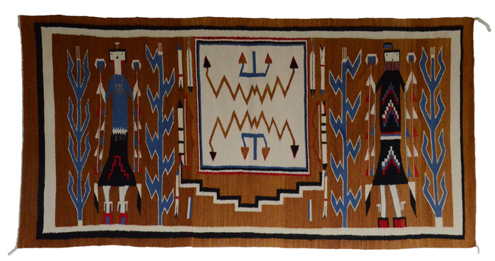 Antique Navajo Weaving: Yei Pictorial : GHT 2304