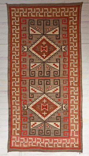 "JB Moore Crystal Navajo Weaving : Historic : GHT 2309 : 4'5"" x 8'7"" - Getzwiller's Nizhoni Ranch Gallery"