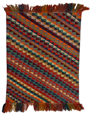 "HOLD - Germantown Sampler : Antique American Indian Rug : GHT 2320 : 25"" x 35"" - Getzwiller's Nizhoni Ranch Gallery"