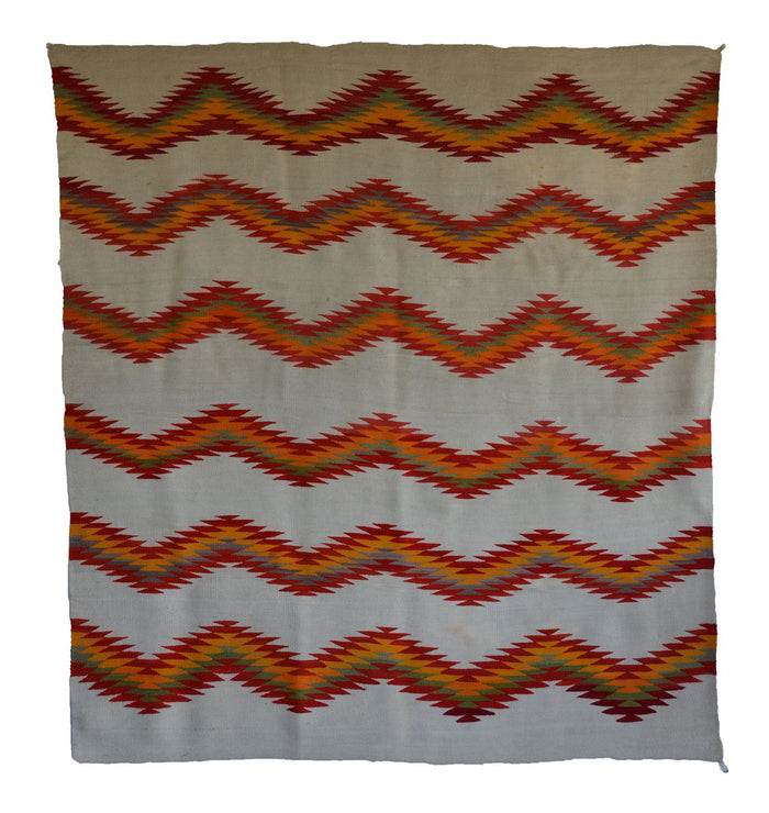 Transitional American Indian Blanket : Antique Navajo weaving : GHT 2318 : 76″ x 72″